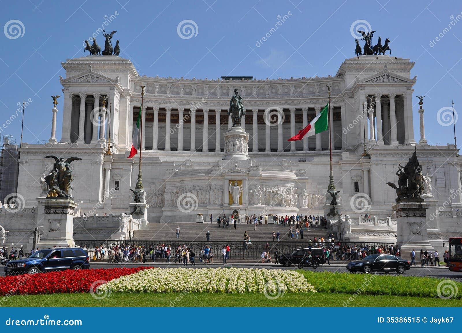 Plaza Venezia Roma Italia