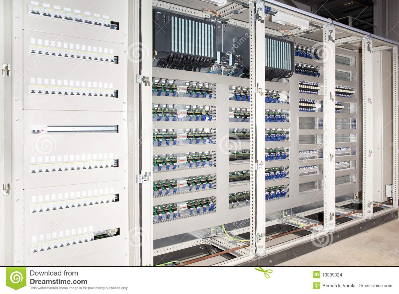 Plc Automated System Electrical Panel Board Stock Photo - Image of ...