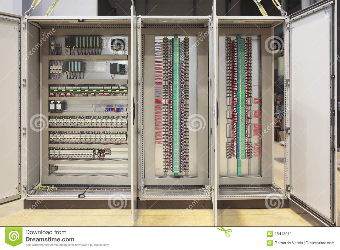Plc And Barriers Panel Board Stock Photo Image Of Manufacture Wiring