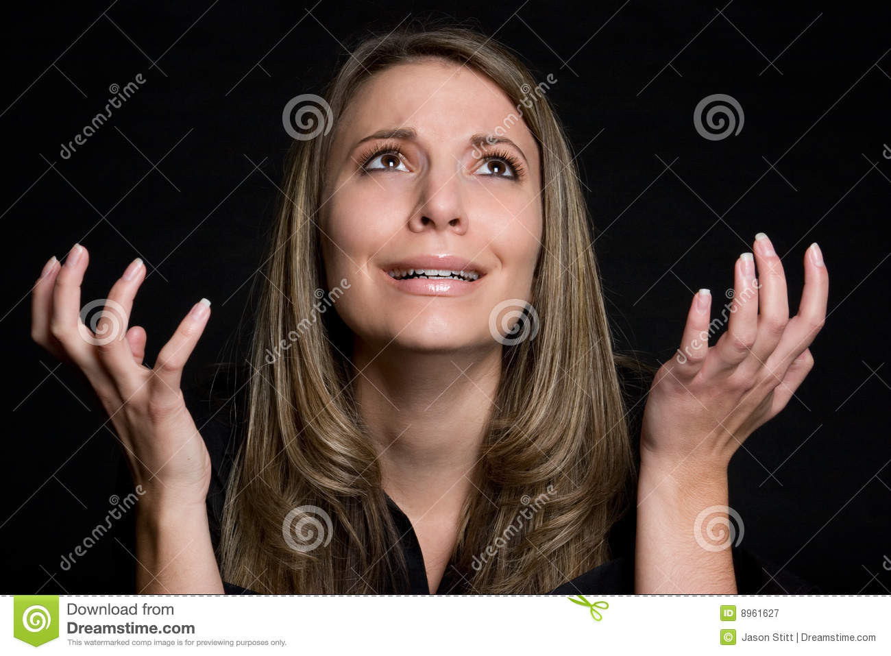 Pleading Woman stock image. Image of expressions, hands ...