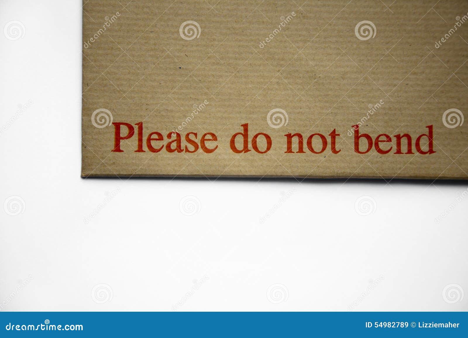 Please böjer inte