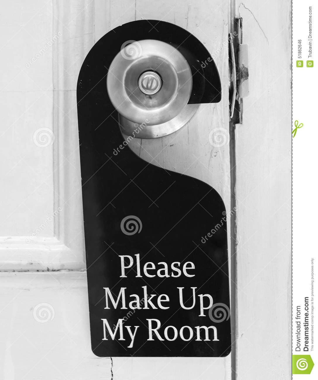 Please clean my room hotel tag stock photo image 51862646 for Make my room