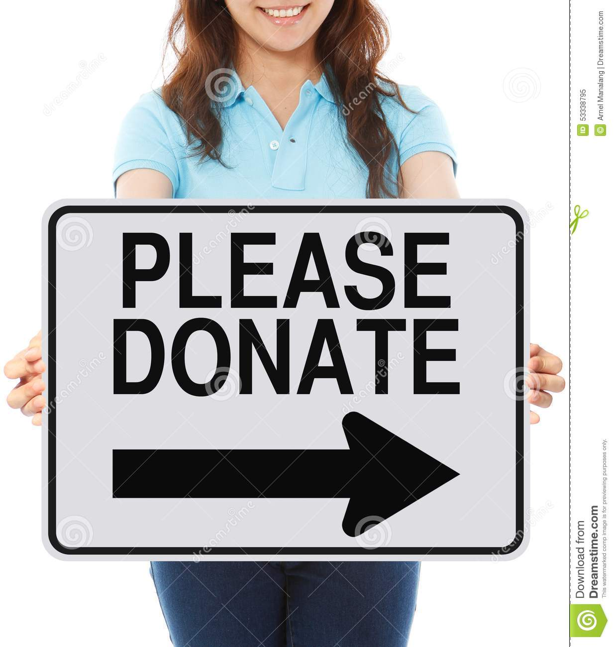 Please Donate stock image. Image of donate, white, road ...