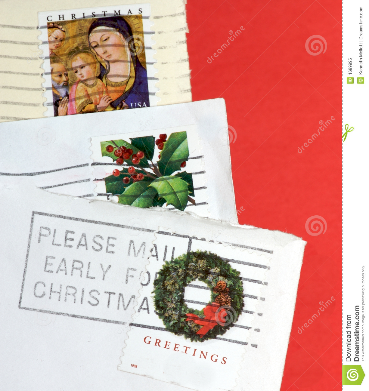 Please Mail Early For Christmas Stock Image - Image of envelopes ...