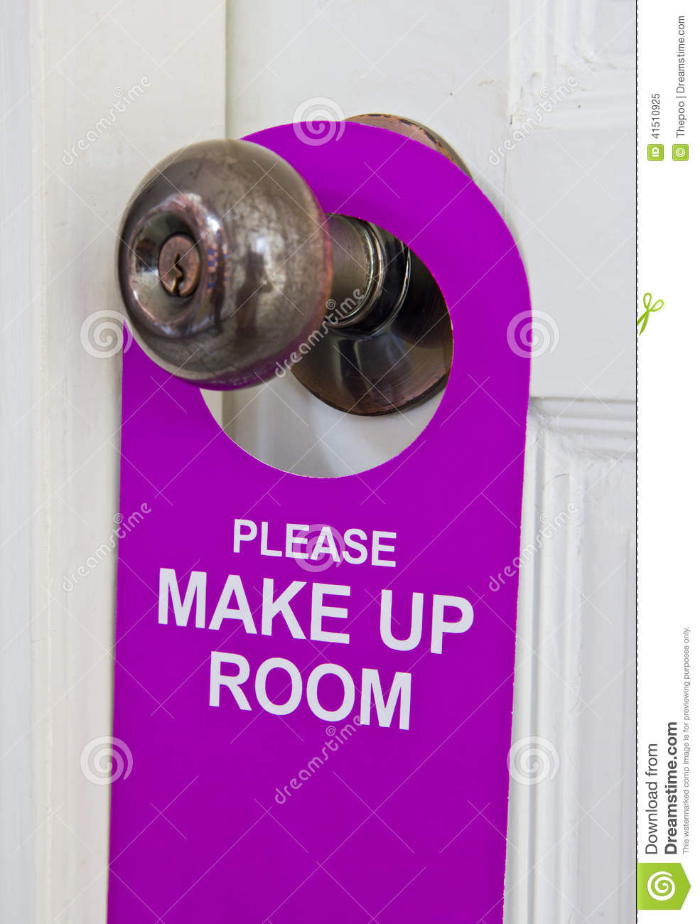 Please make up room stock photo image 41510925 for The make room