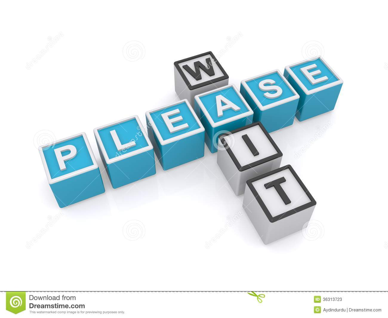 please wait sign stock photos
