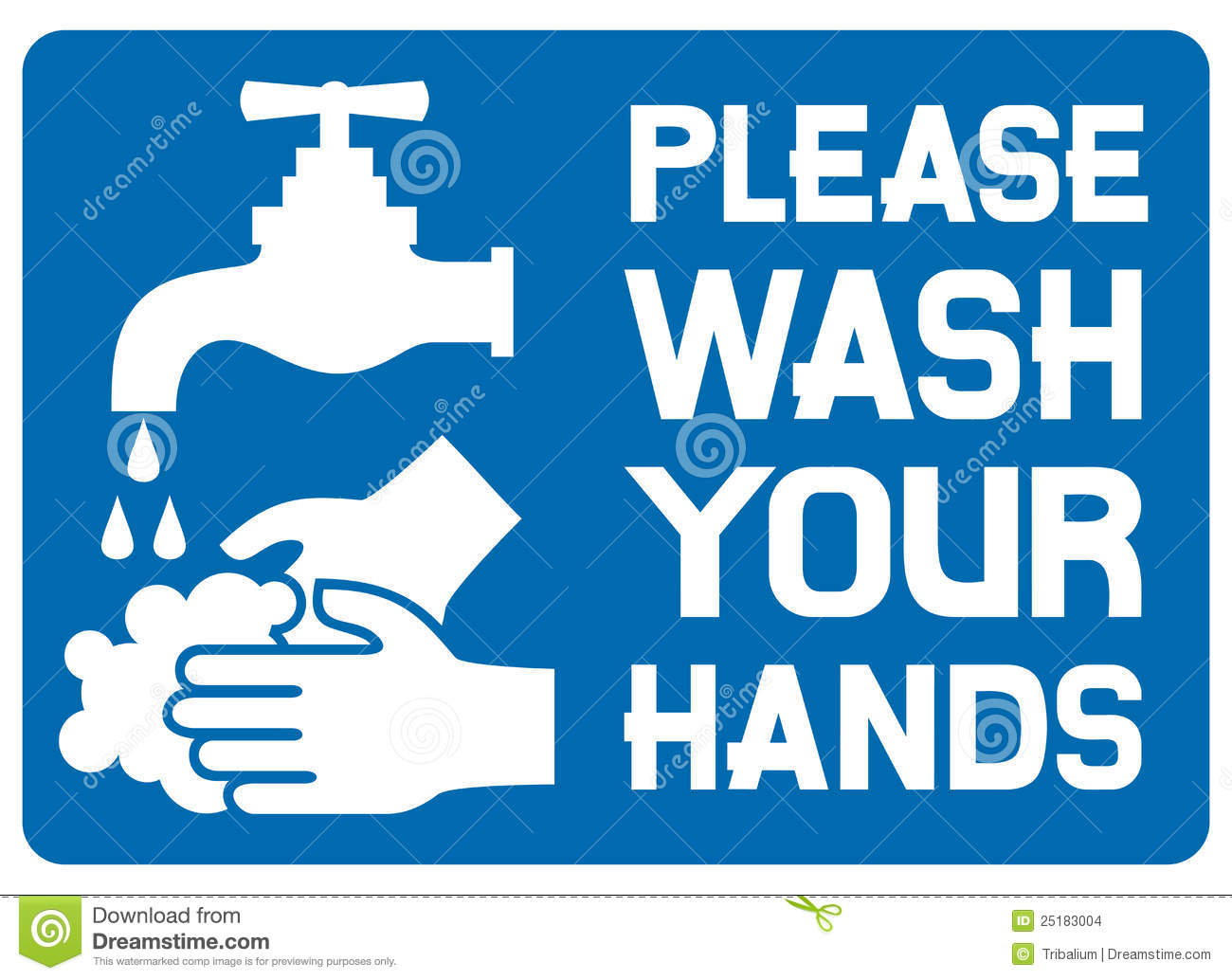 Please Wash Your Hands Sign Stock Images - Image: 25183004