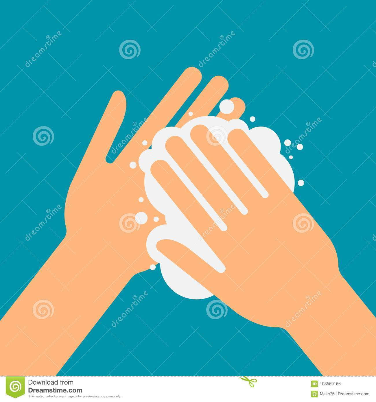 Please Wash Your Hands Stock Vector Illustration Of Icon 103569166