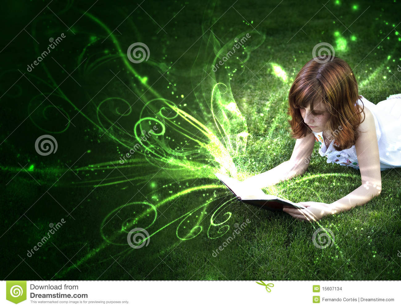 the pleasure of reading stock photo image of lady grass  the pleasure of reading