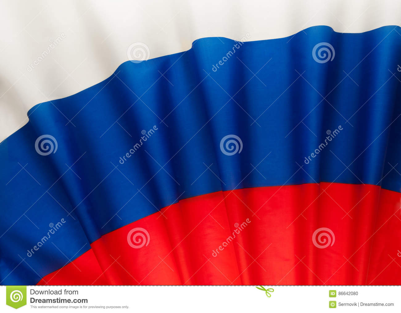 Pleated Russian Federation flag as a background