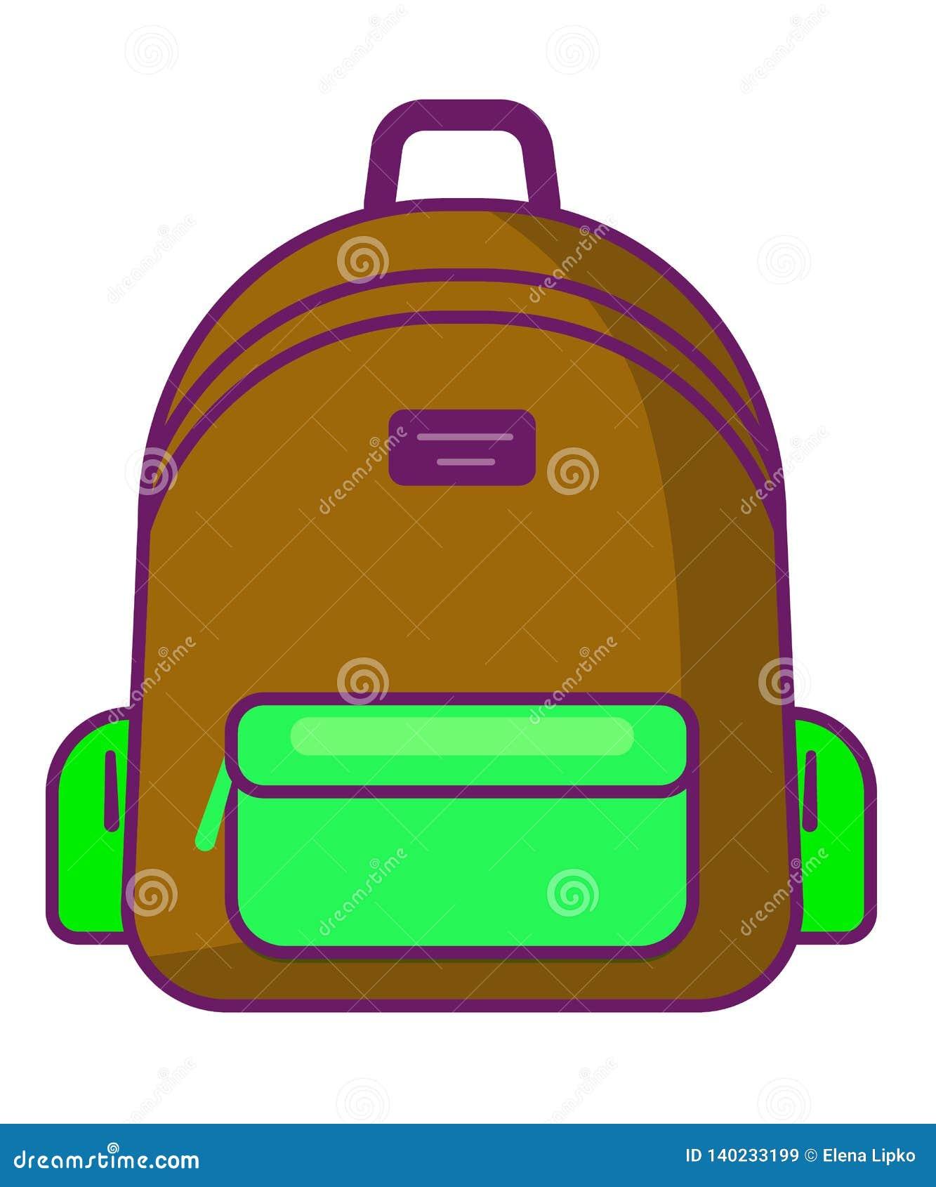 Plecak ikona podróżuje ikonę - wektoru szkolny symbol -