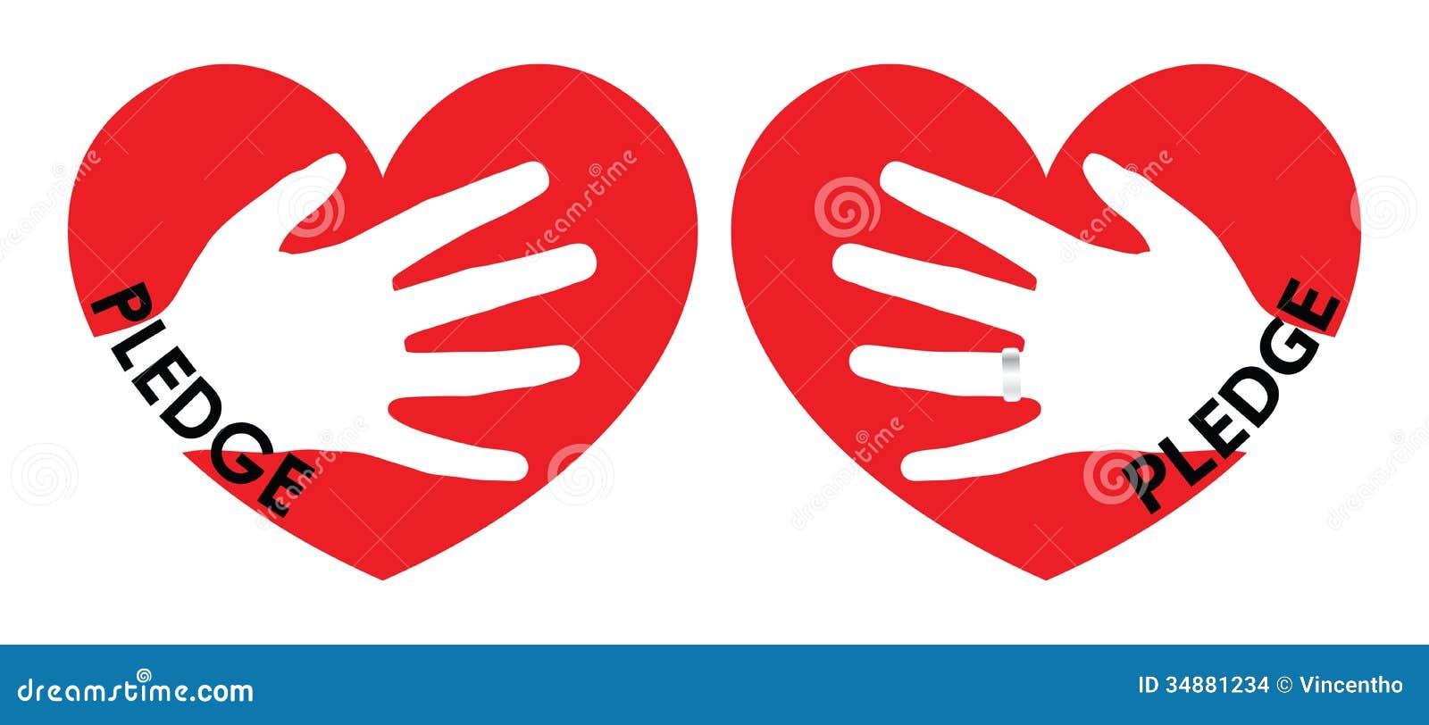 Pledge Of Love Illustration Stock Vector Illustration Of