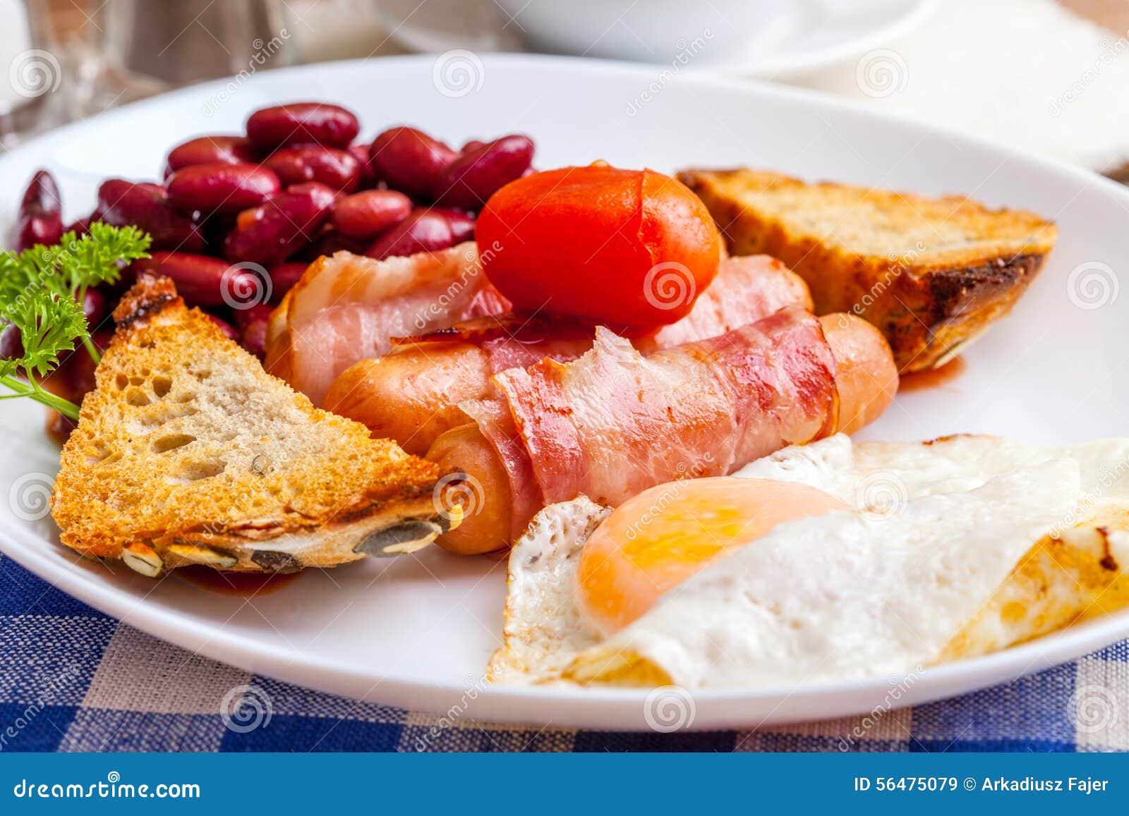 Plein déjeuner anglais