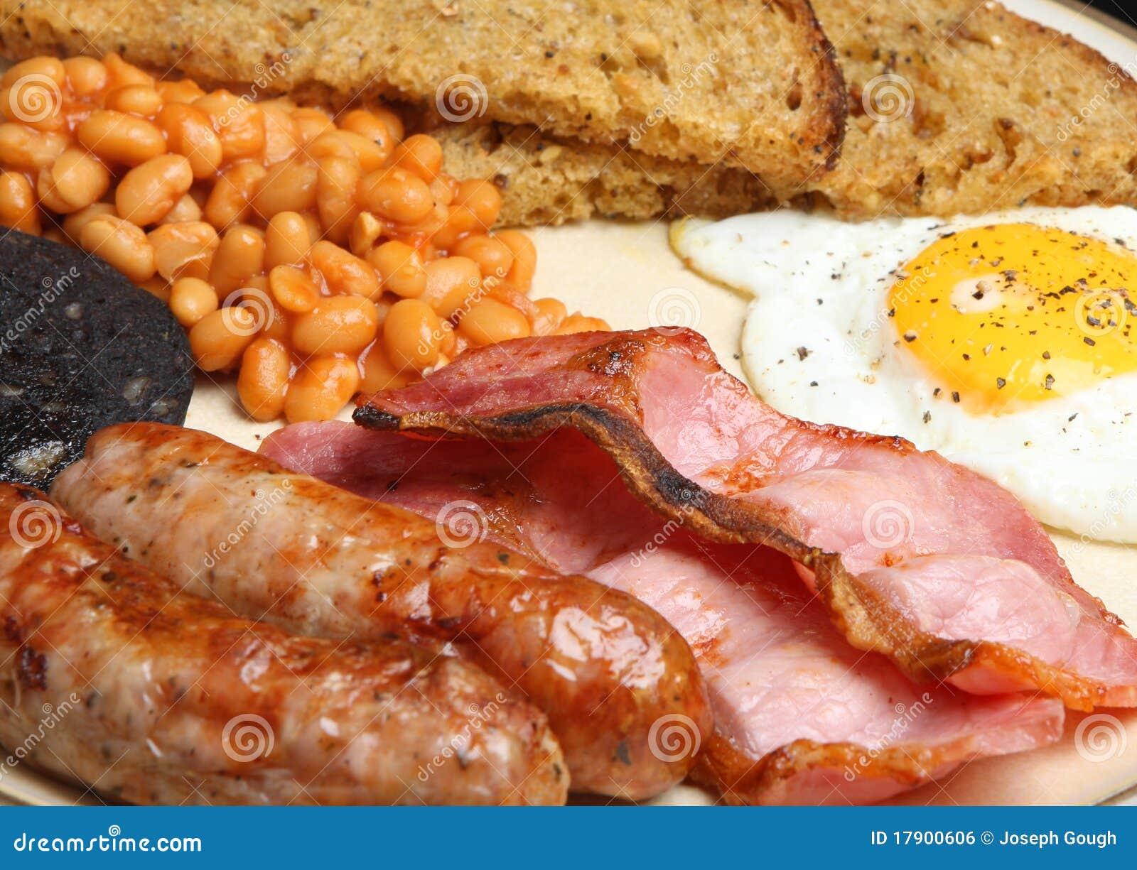 Plein déjeuner frit cuit anglais