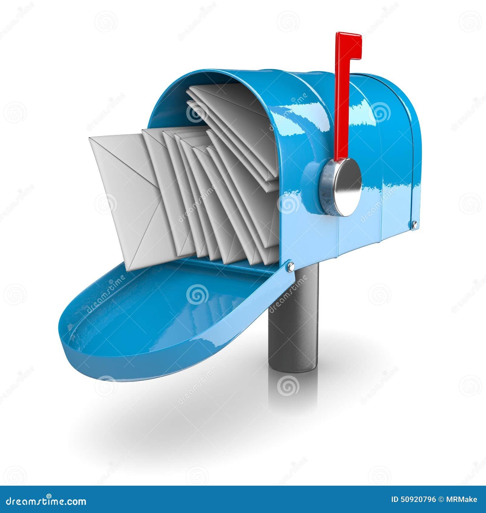 pleine bo te aux lettres illustration stock illustration du enveloppez 50920796. Black Bedroom Furniture Sets. Home Design Ideas