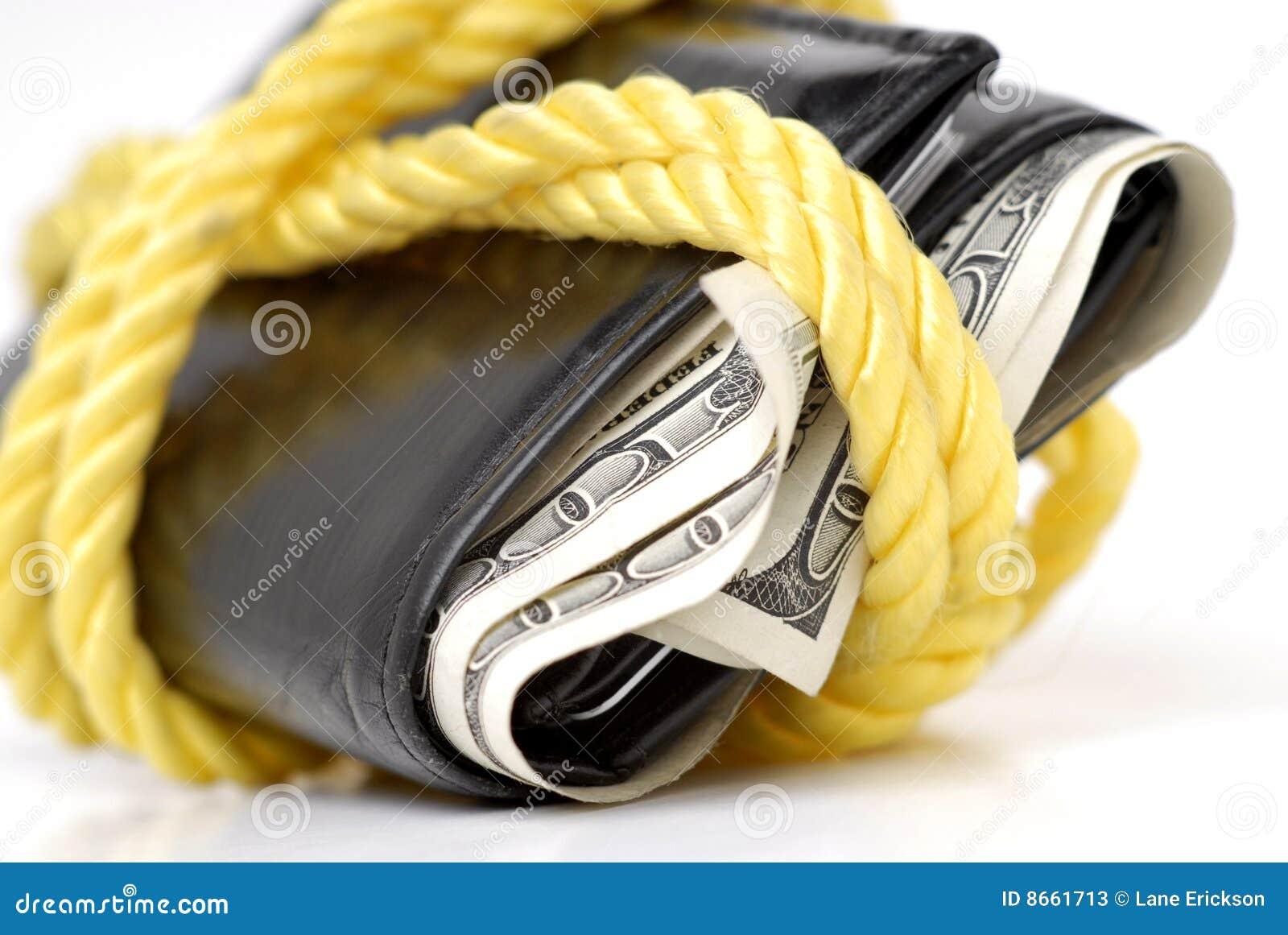 Pleine pochette d argent comptant