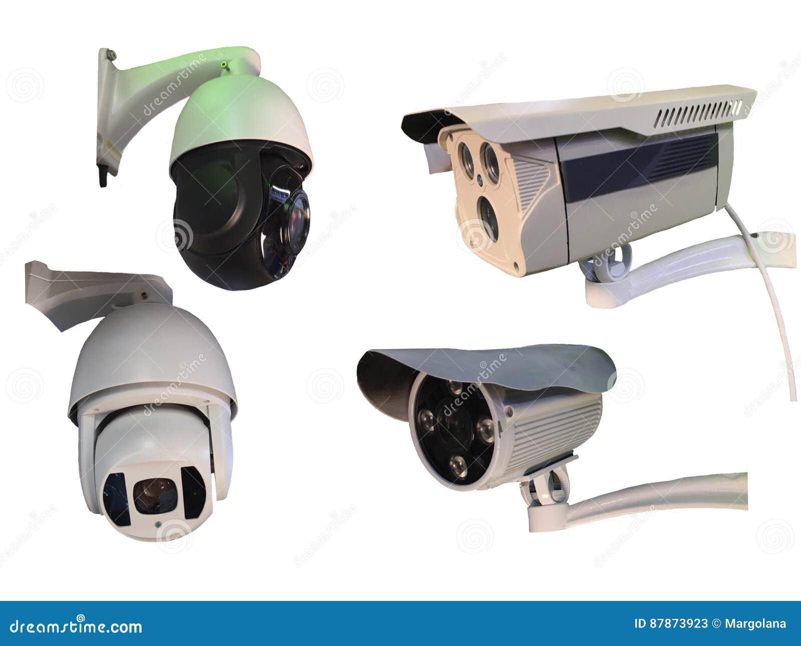 Plenerowa CCTV grupa monitorowanie, kamery bezpieczeństwa odizolowywać dalej