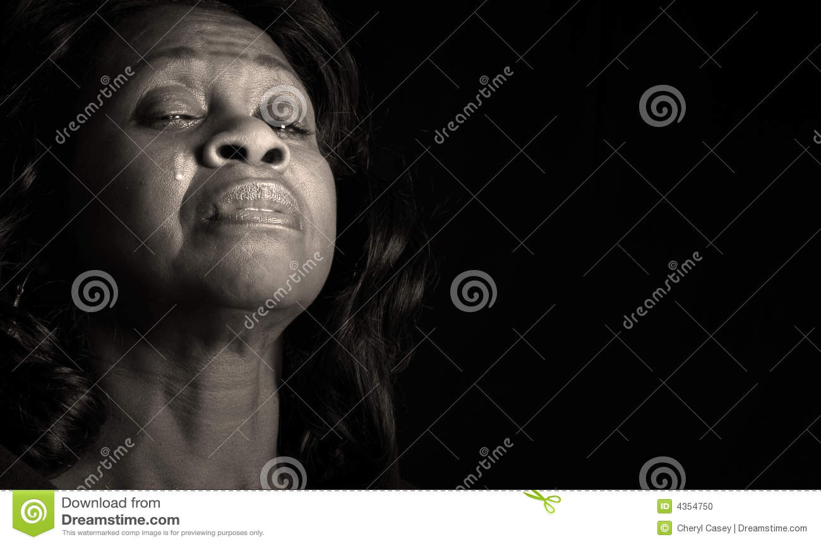 Pleurer de femme