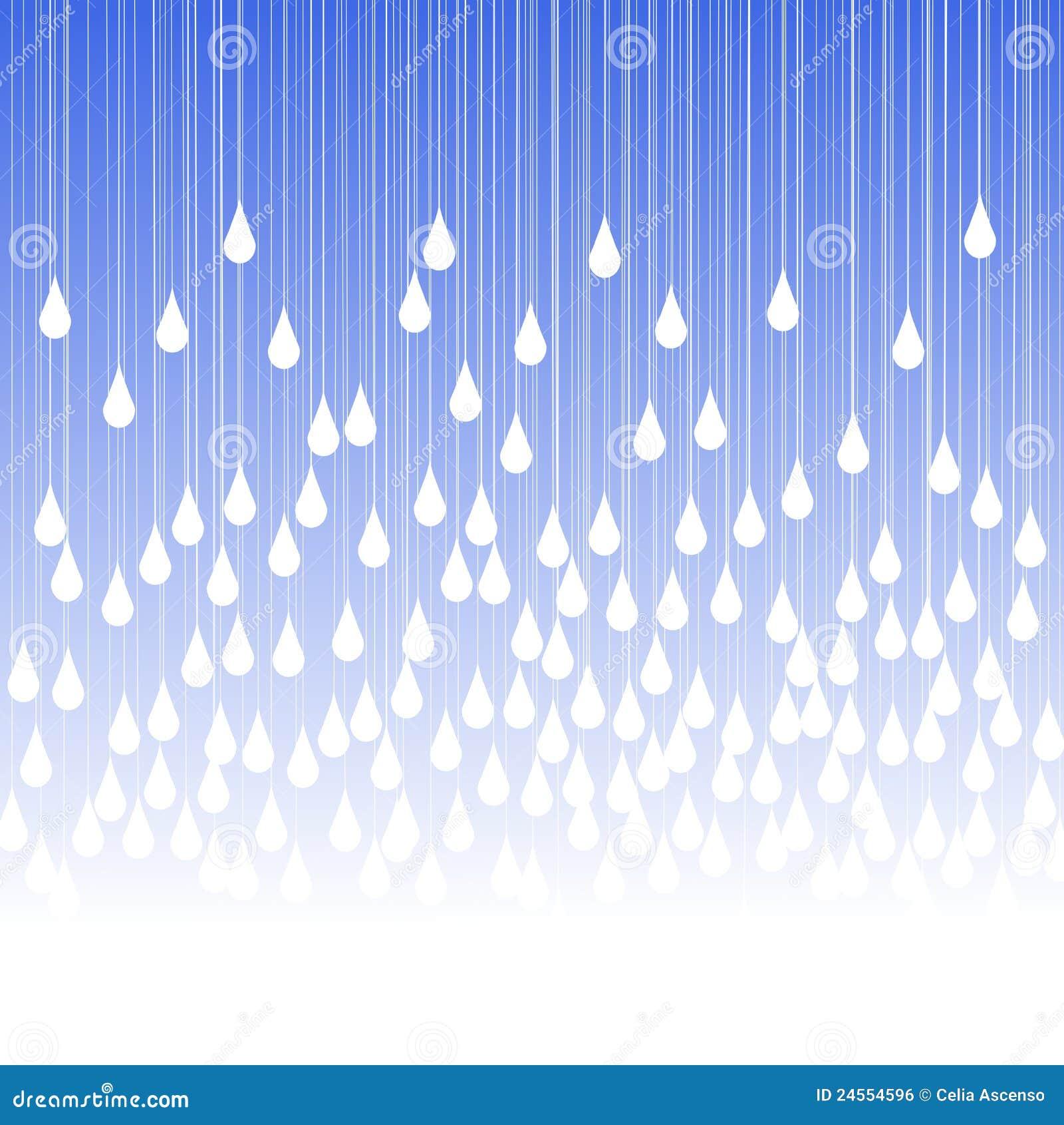 Pleuvoir les baisses et la carte de voeux de regain