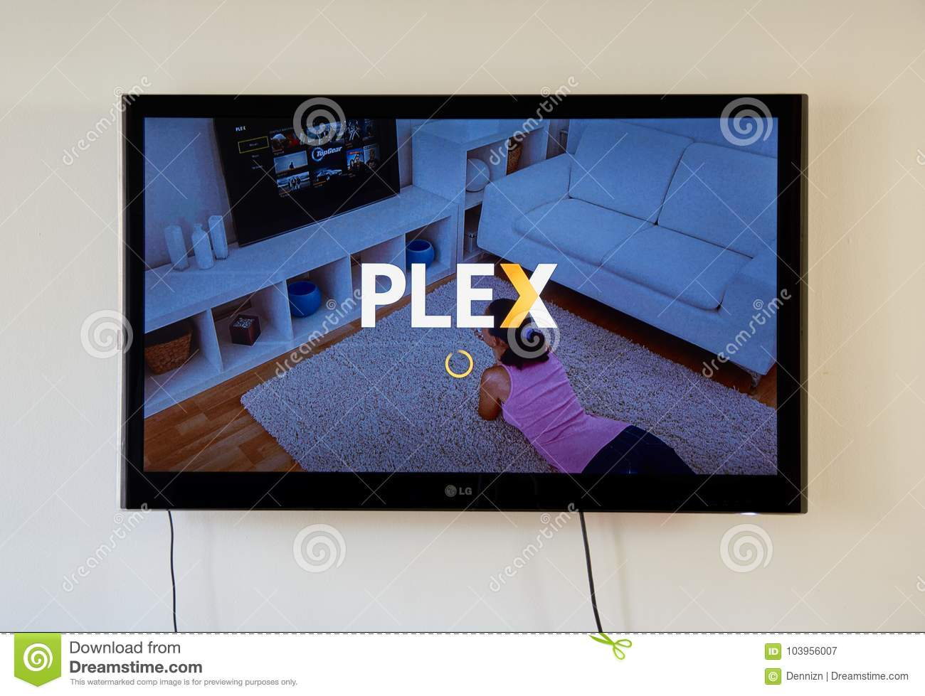 Plex App And Logo On LG TV Screen  Editorial Photography - Image of