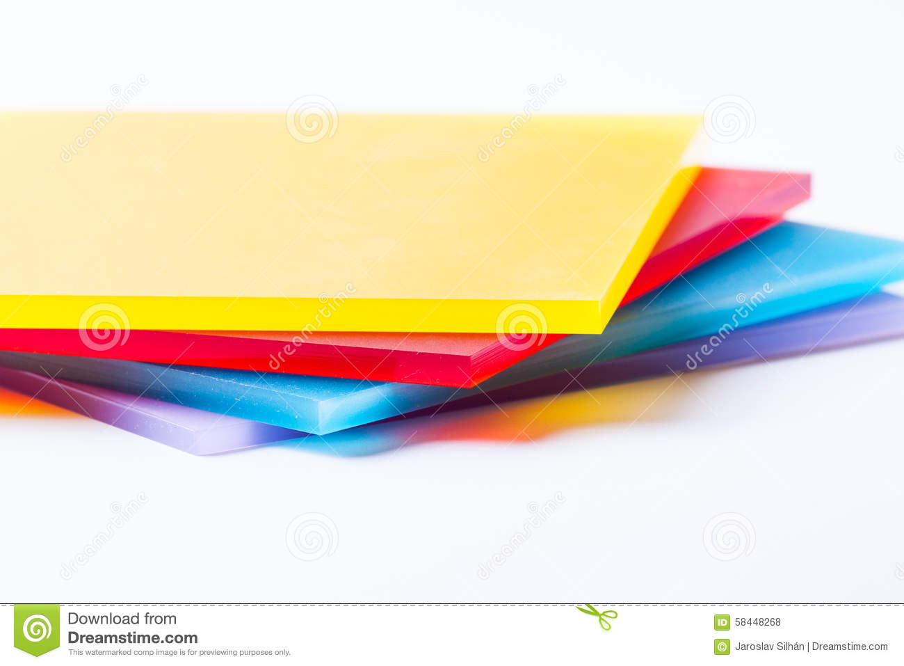 Plexiglass sheets colored stock photo. Image of architectural - 58448268
