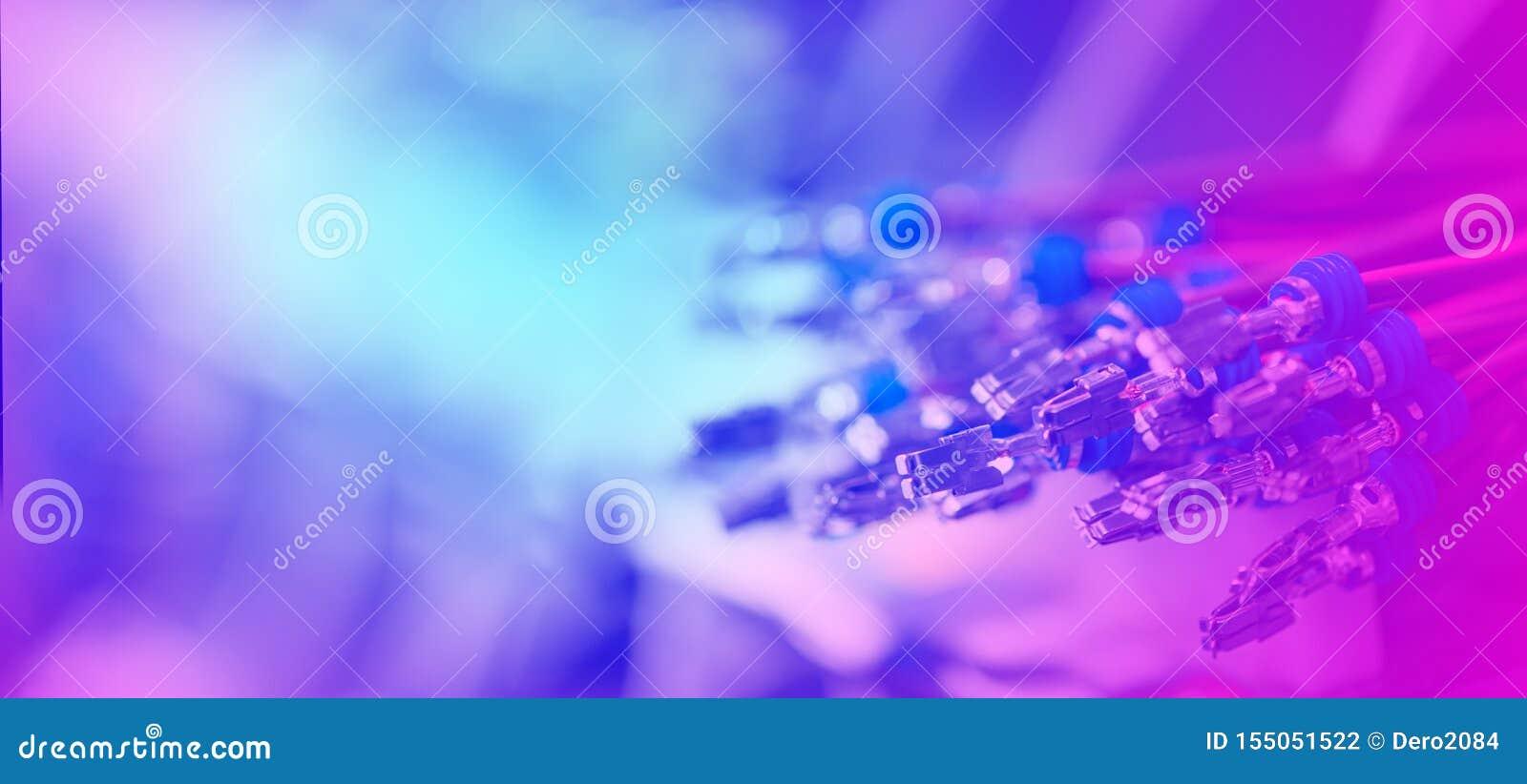 Plik crimped kable z elektrycznymi włącznikami Kończący druciany przygotowywa tworzenie związek Abstrakt Kolorowy