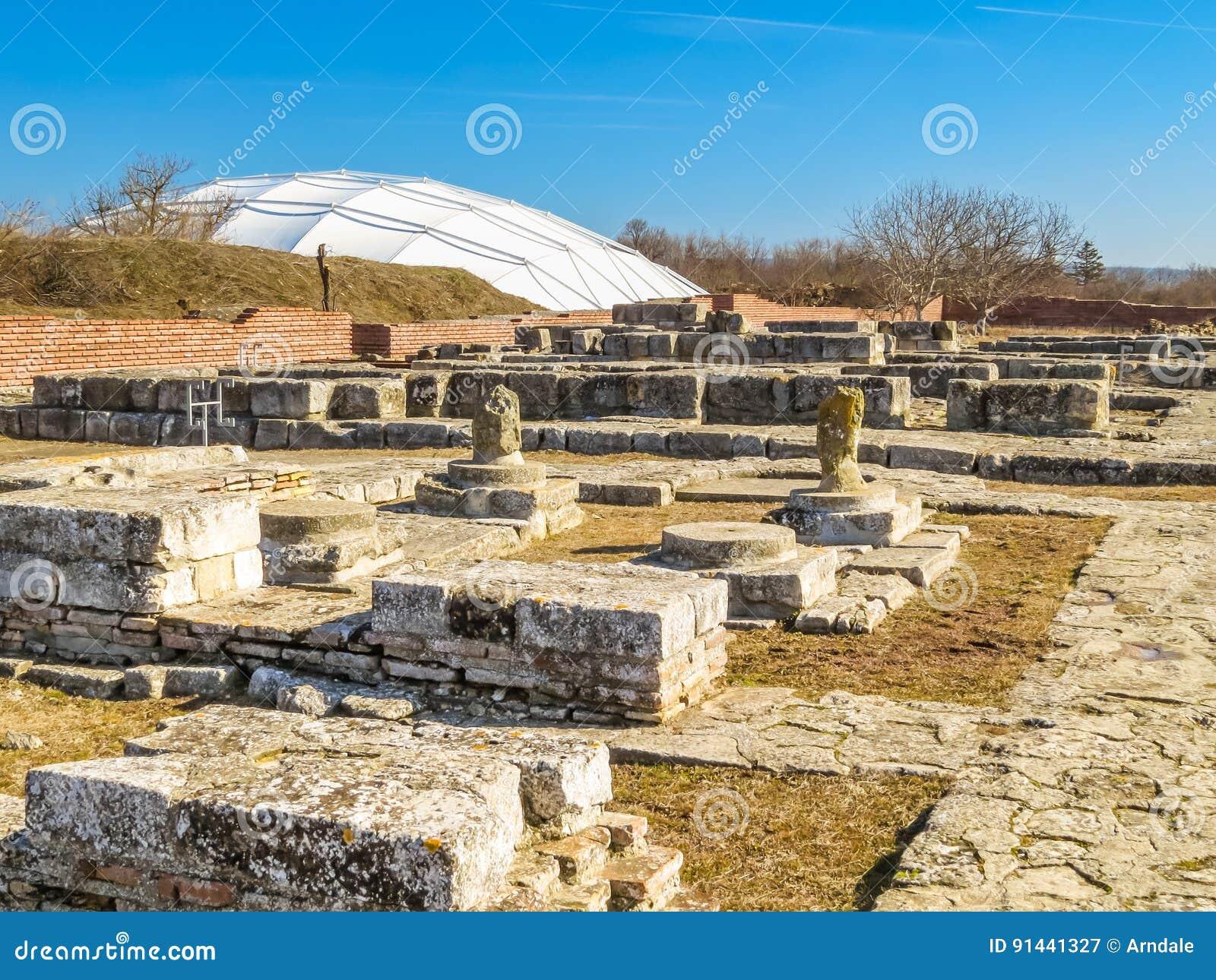 Pliska S Ruins Capitals Of The First Bulgarian Kingdom Stock