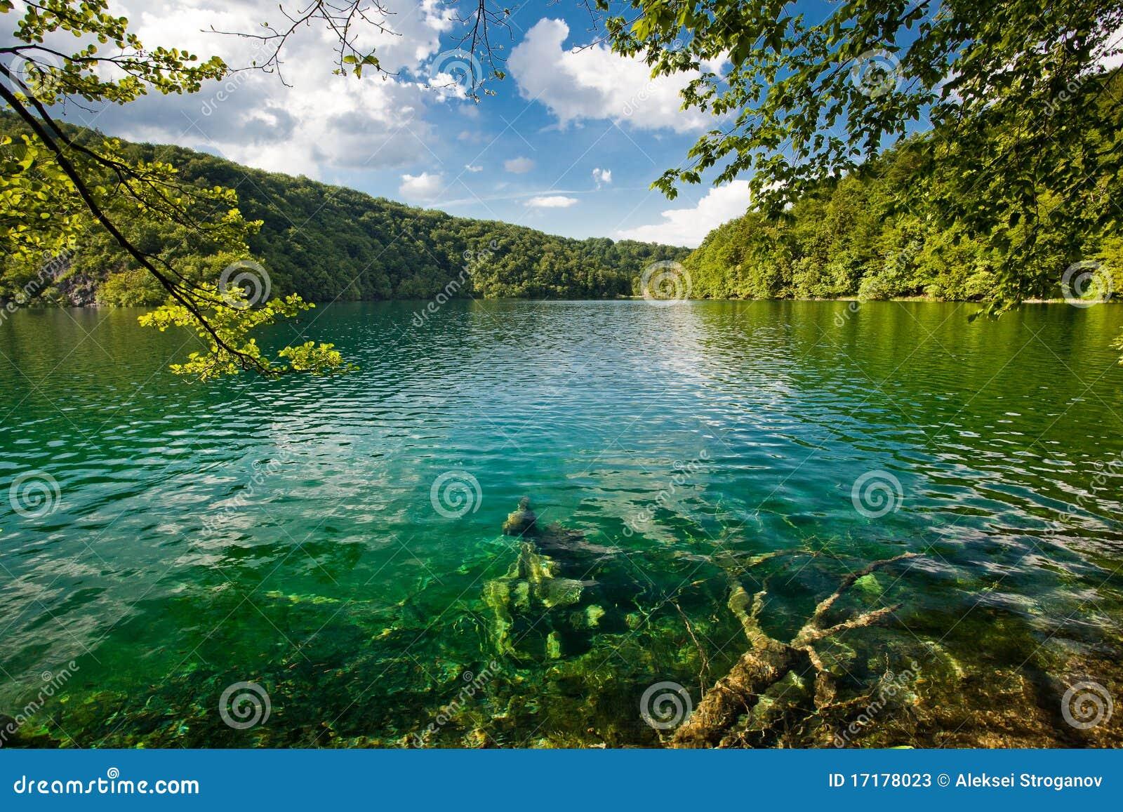 Plitvice Lakes National Park In Croatia Landscape Stock ...