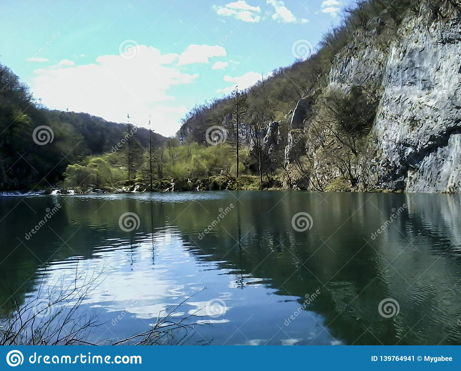 Plitvice Lakes Reflections, Croatia Stock Image - Image of
