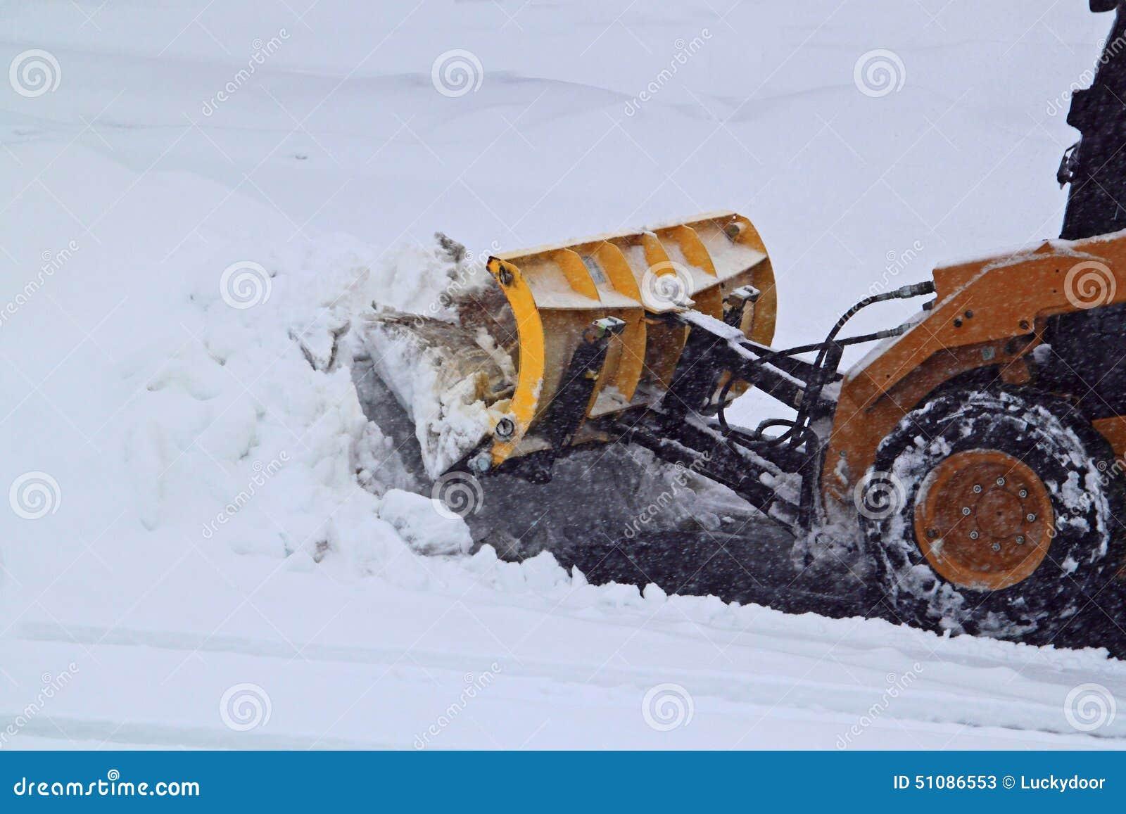 Ploegende Sneeuwweg