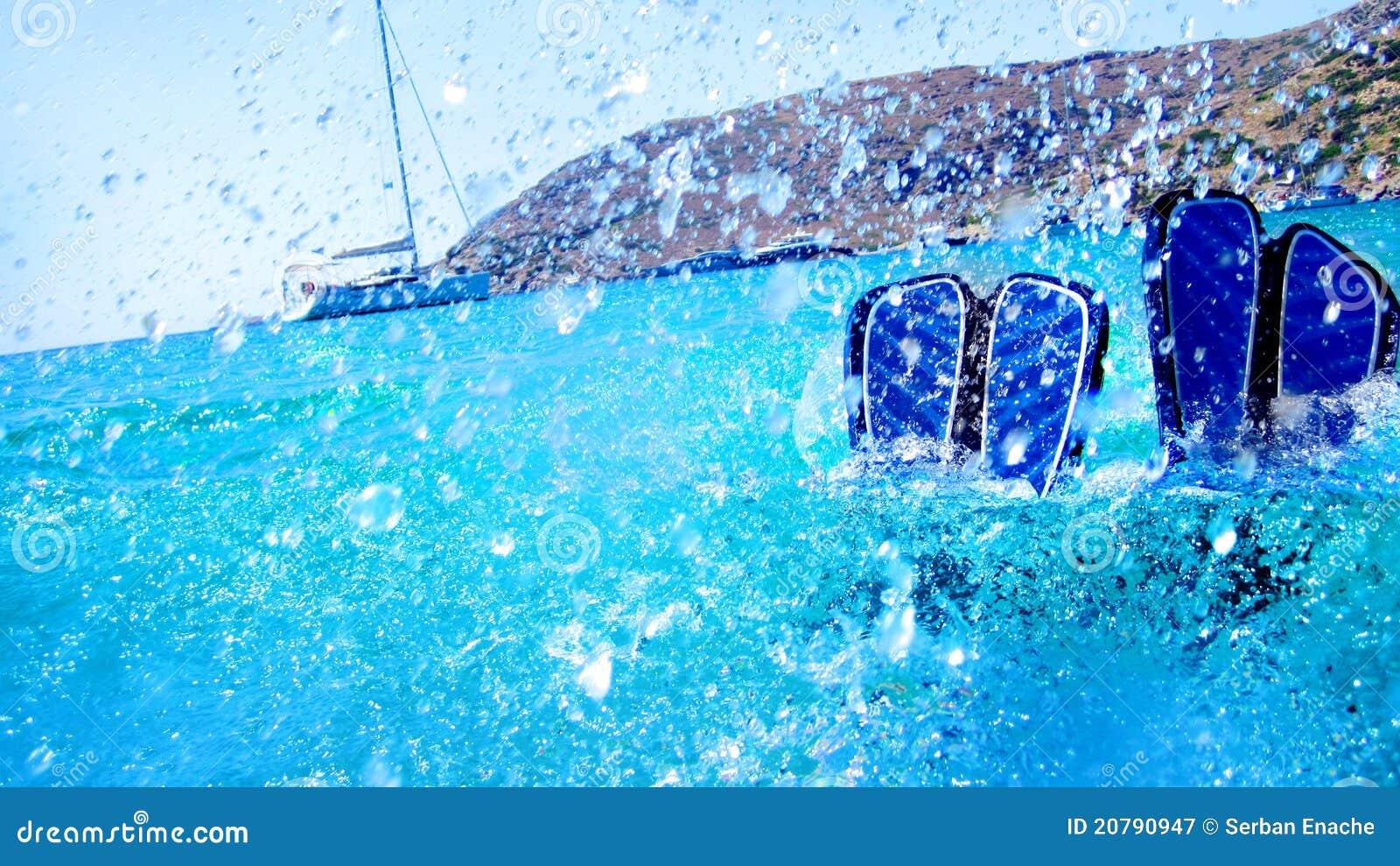 Plongée d été