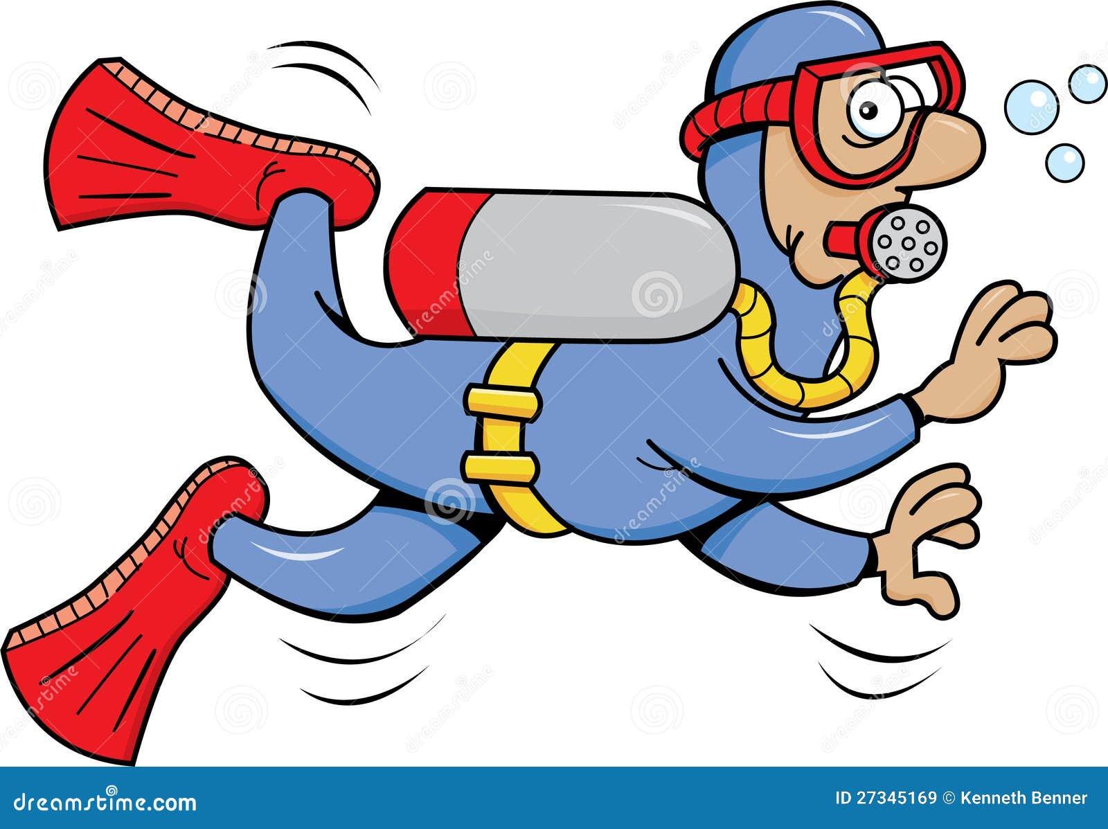 Plongeur autonome images libres de droits image 27345169 - Dessin plongeur ...