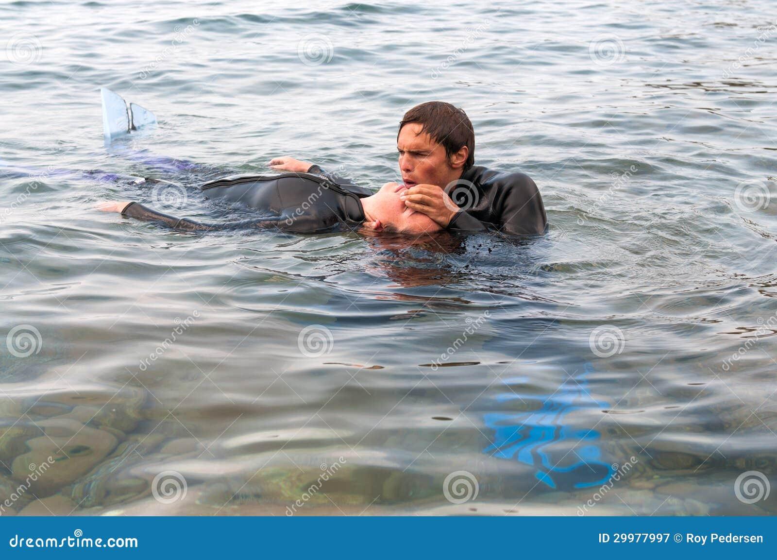 Délivrance de plongeur
