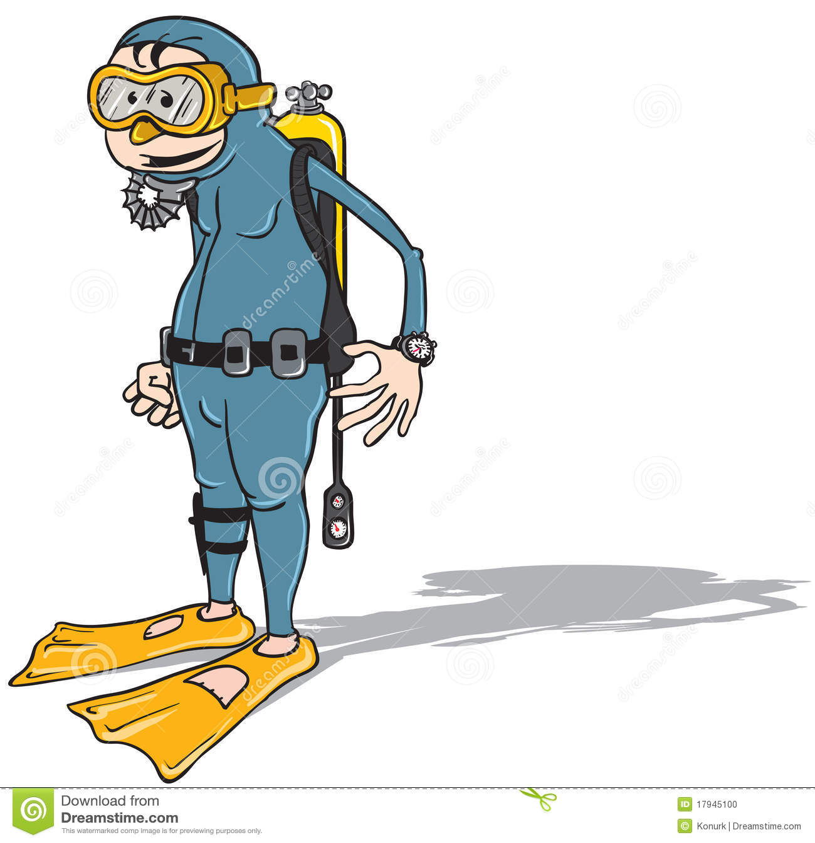 Plongeur de dessin anim photo stock image 17945100 - Plongeur dessin ...