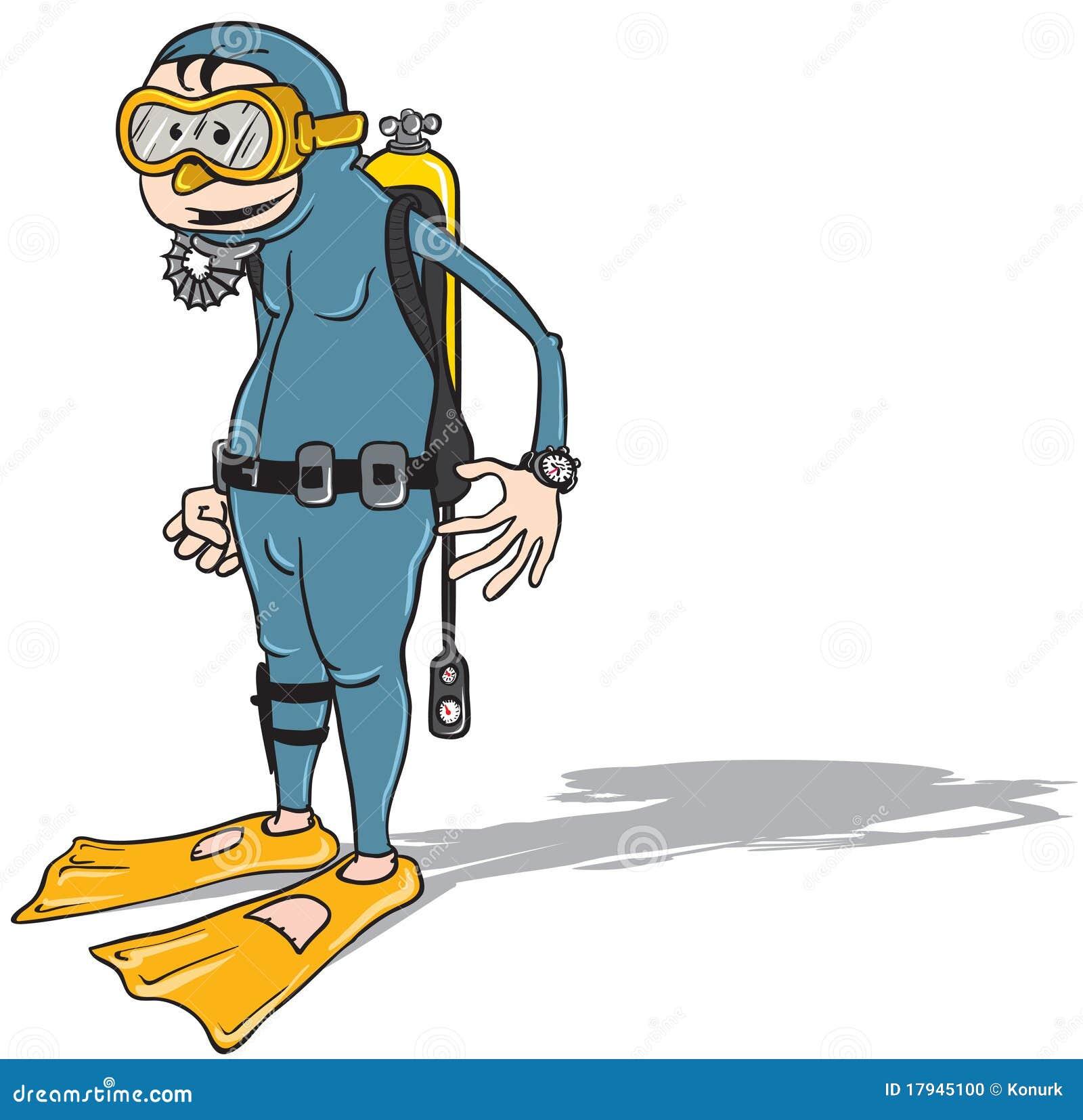 Plongeur de dessin anim photo stock image 17945100 - Dessin plongeur ...