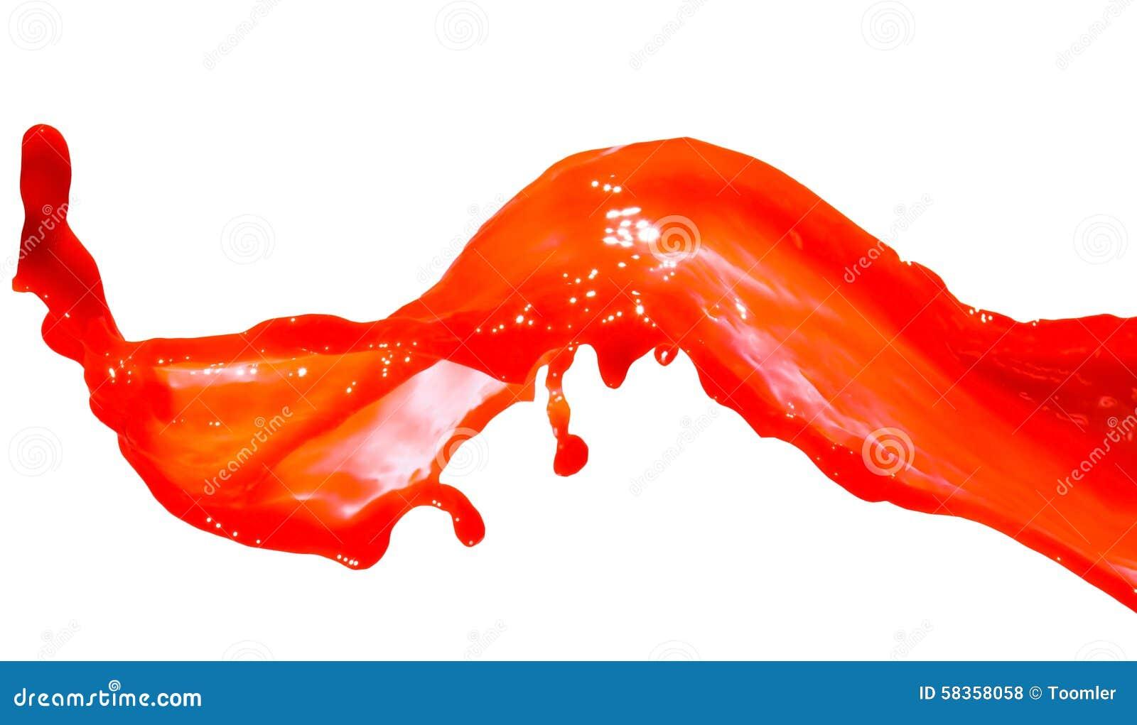 Plons van rode verf