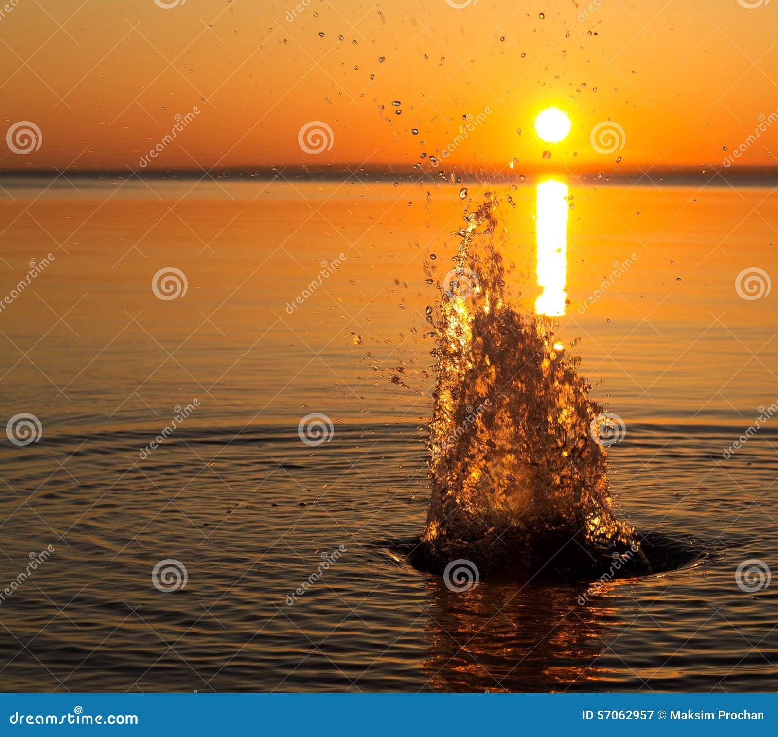 Plonsen van water