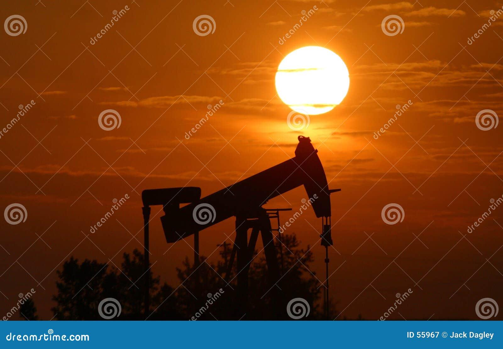 Download Plot de pompe de pétrole image stock. Image du horizons - 55967