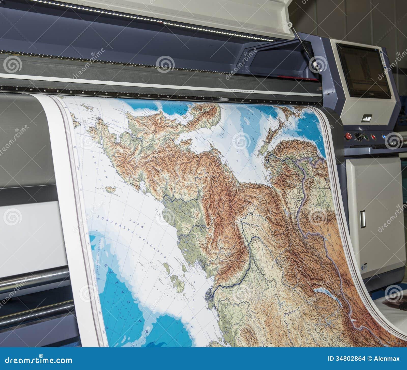 plotter printing map stock photo image of plotter format   - plotter printing map