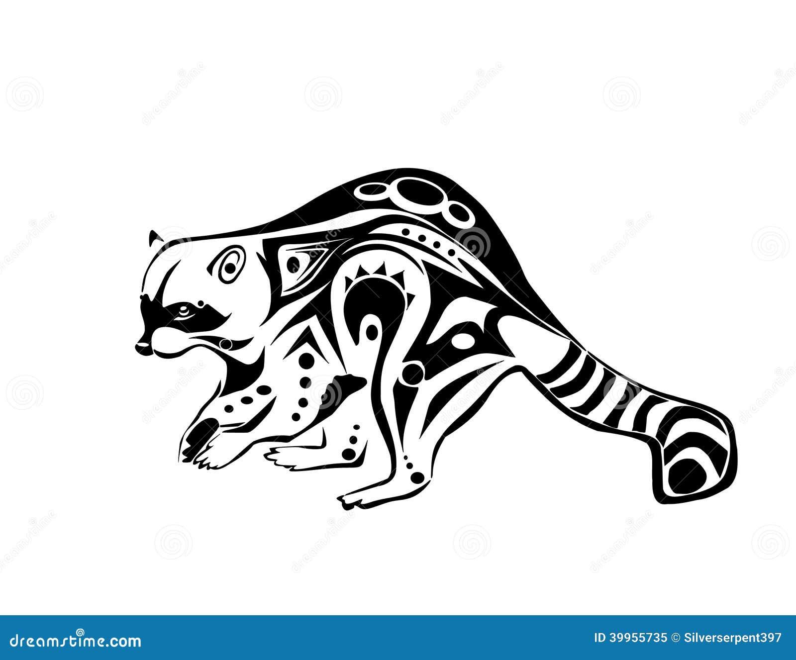 Plotting Raccoon Stock Vector Image Of Plotting Tattoo