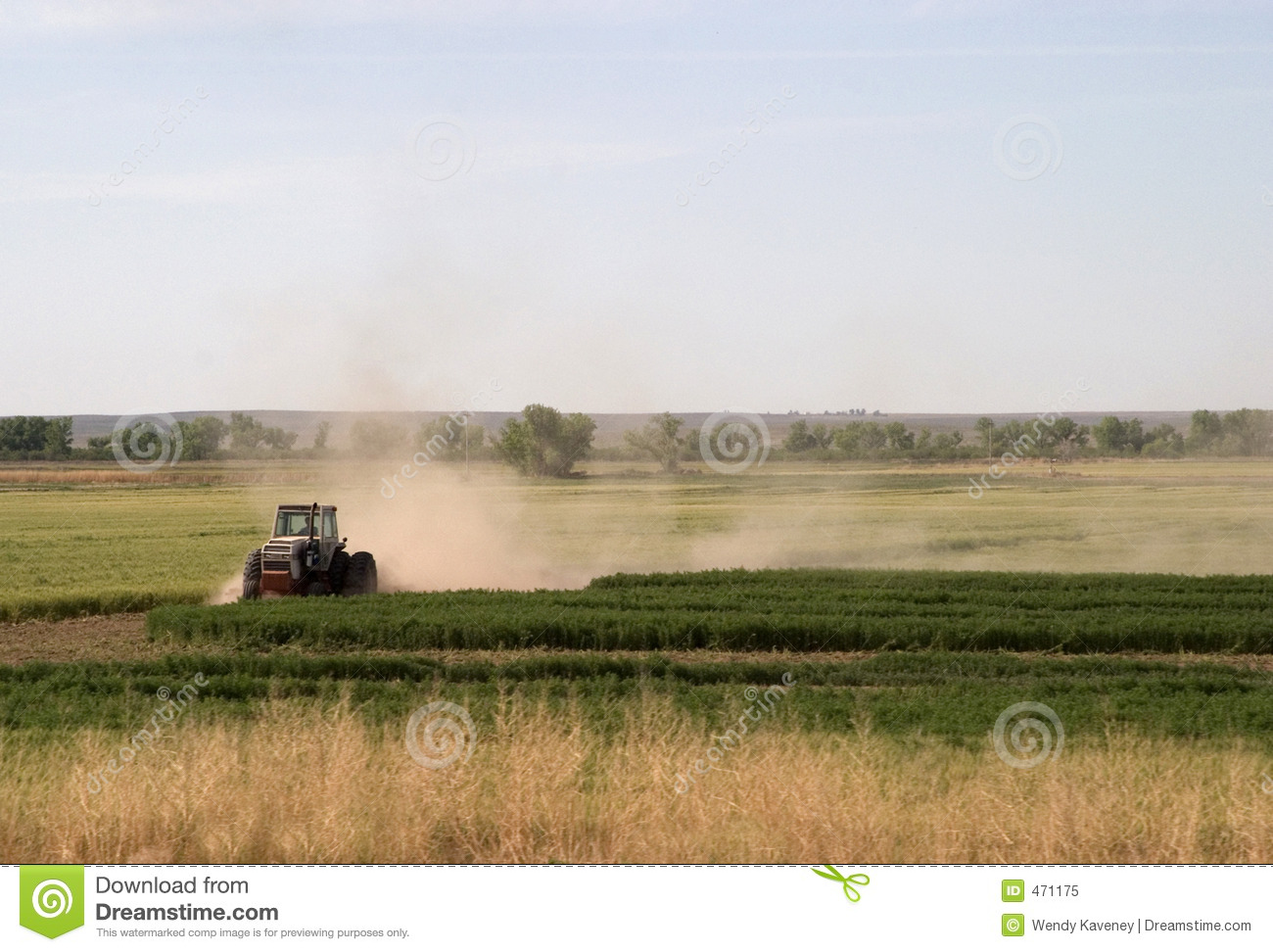 Download Plowing the Fields stock image. Image of harvest, dust - 471175