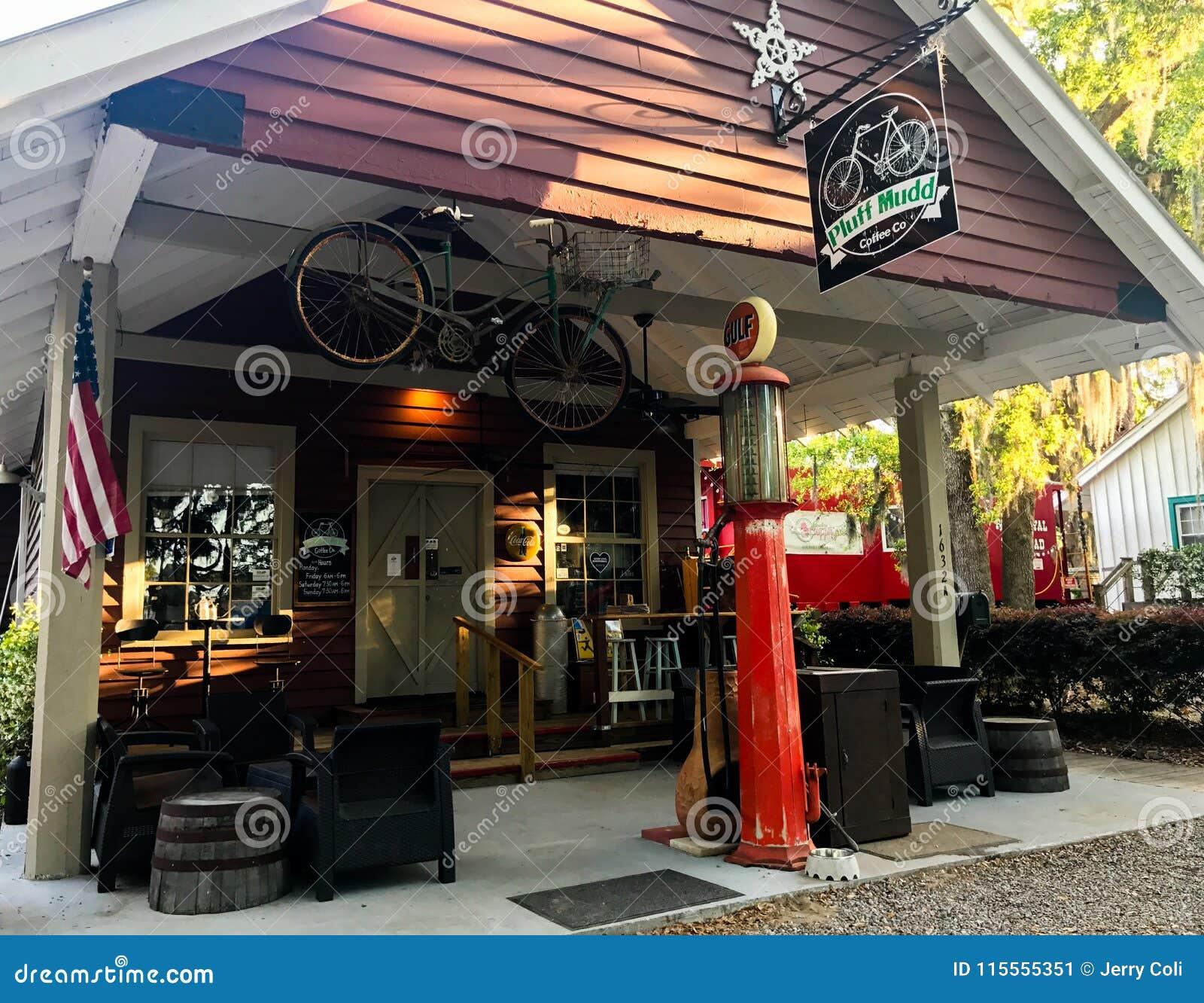 Pluff Mudd, επιχείρηση καφέ, Port-Royal, νότια Καρολίνα
