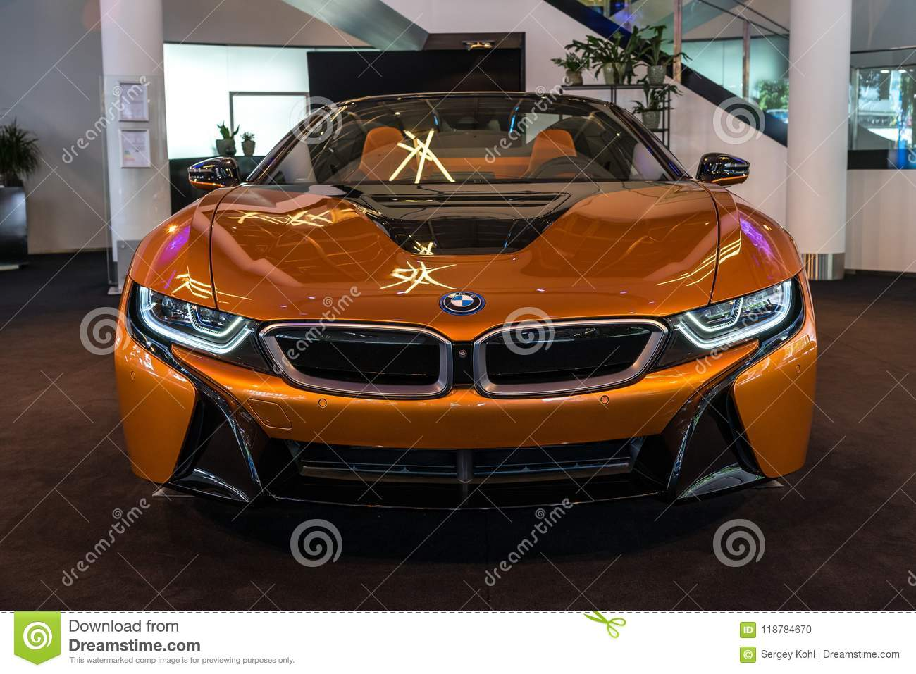 A Plug In Hybrid Sports Car Bmw I8 Roadster Editorial Image Image