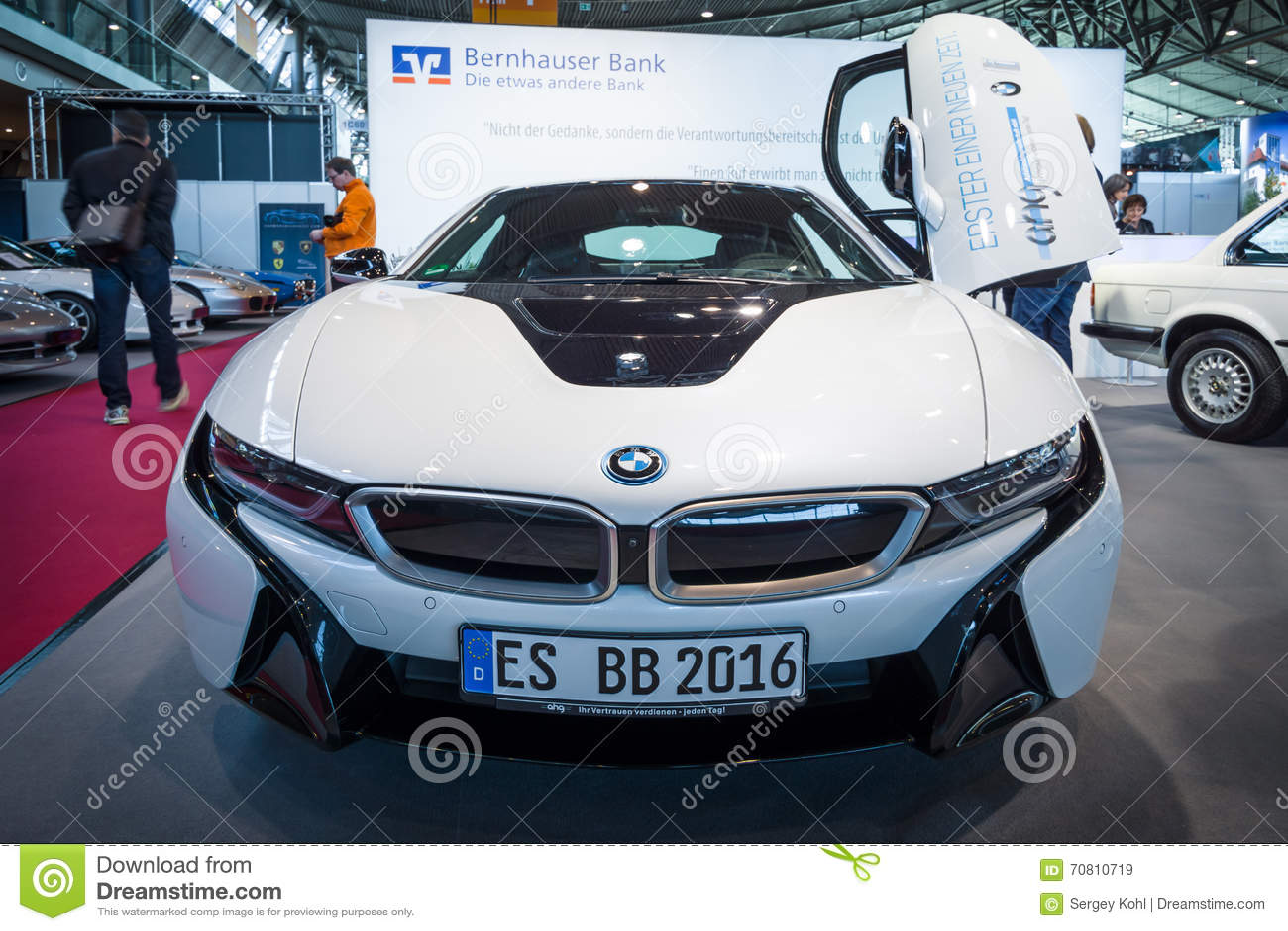 plug-in hybrid sports car bmw i8. editorial stock image - image of