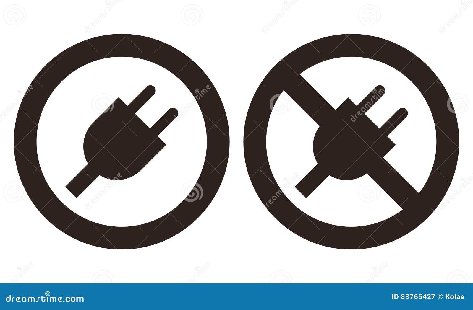 No plug icon stock illustrations 54 no plug icon stock plug and no plug symbol on white background royalty free stock photography buycottarizona