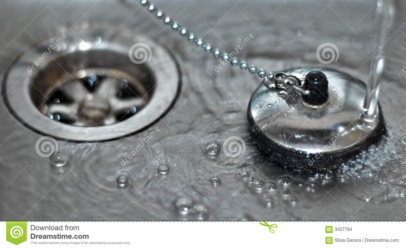 Plug In Sink With Water Stock Images  Image 3457764 # Wasbak Plug_025130