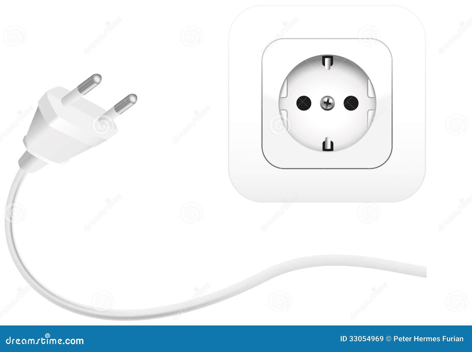 Plug An Socket Royalty Free Stock Images Image 33054969