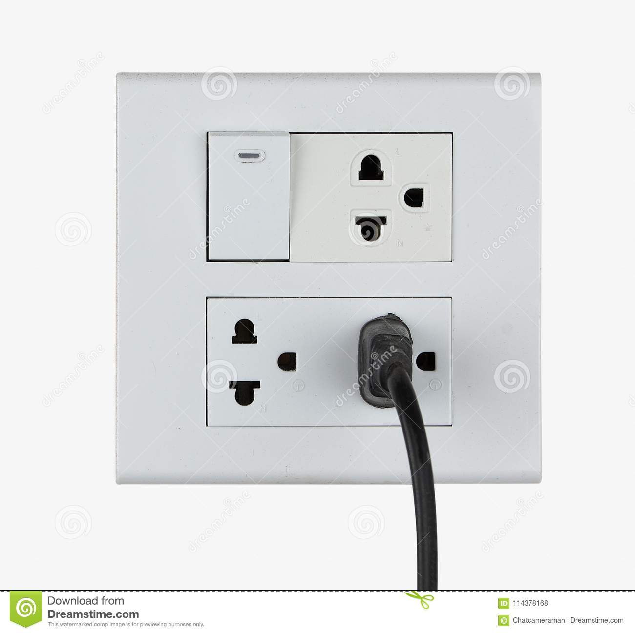 Plug in socket and switch stock photo. Image of interior - 114378168