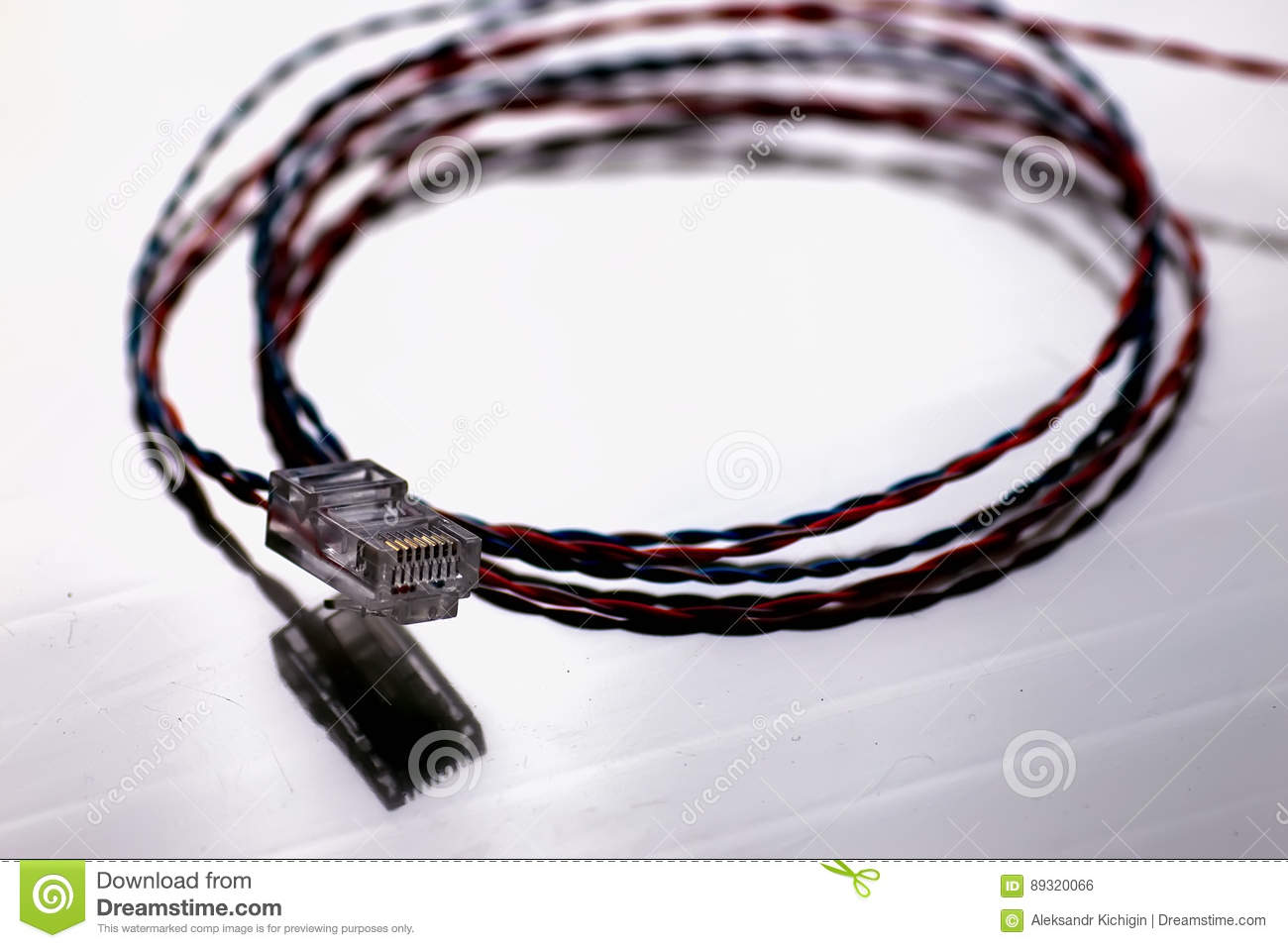 Admirable Plug Wire Color Lan Stock Photo Image Of Device Connect 89320066 Wiring 101 Olytiaxxcnl