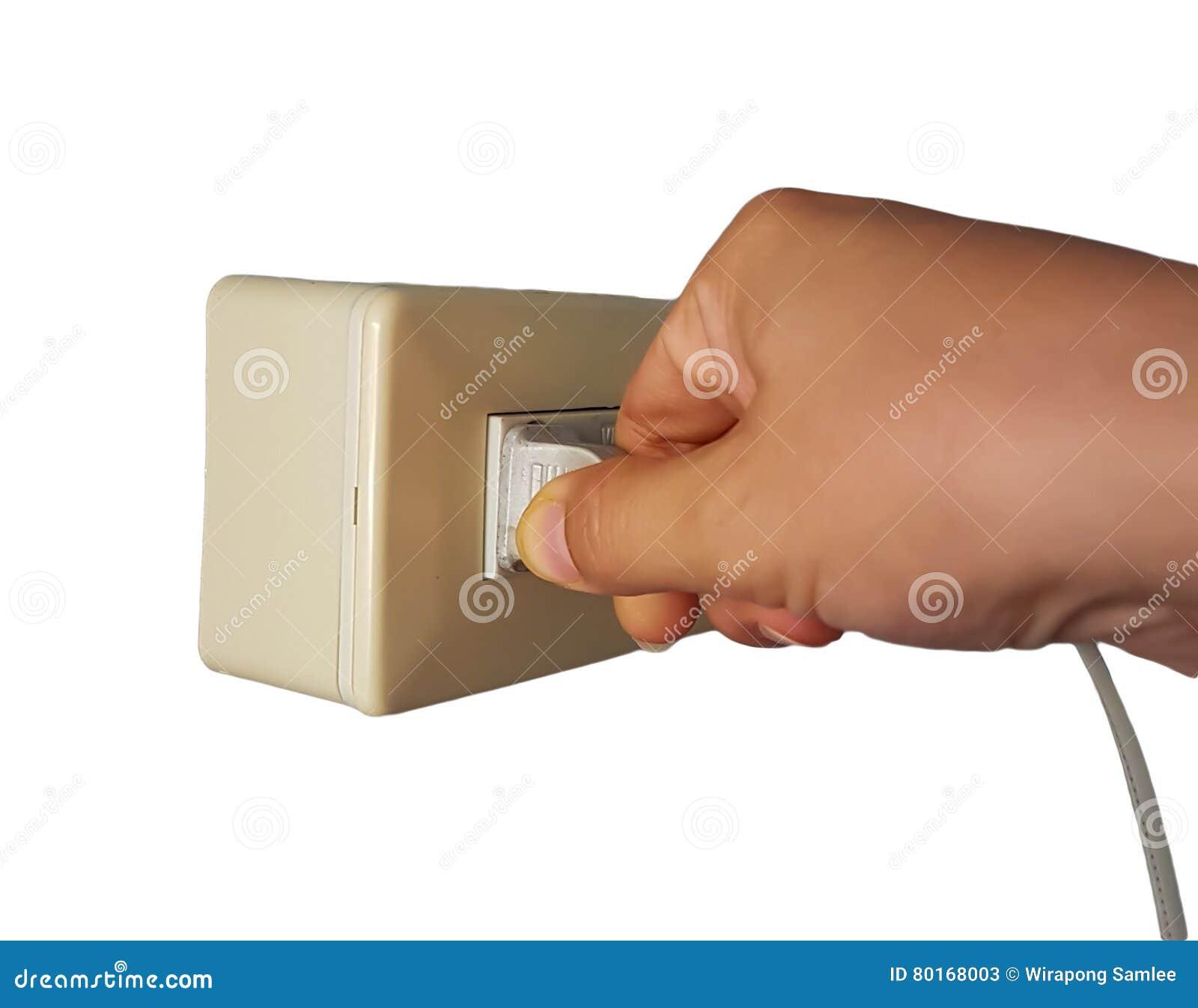 Plugged in or Unplug electric plug.